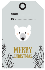 Christmas tags polar bear free printable - christmas gift
