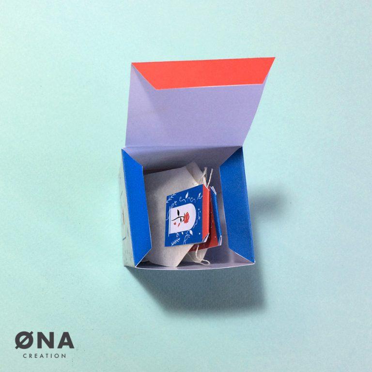 tea box beauty and the beast - tea creation - DIY