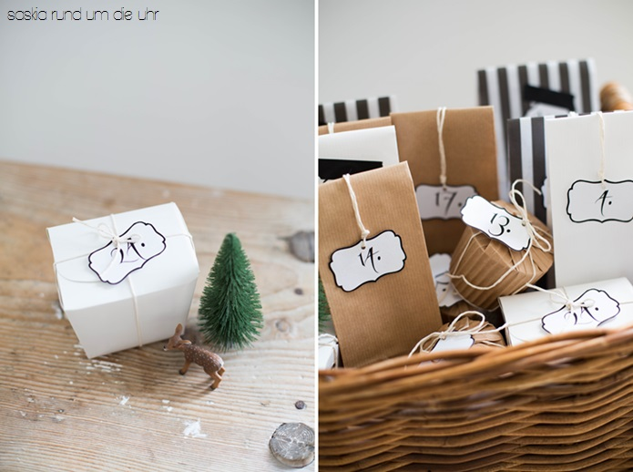 Panier Noël Calendrier de l'Avent