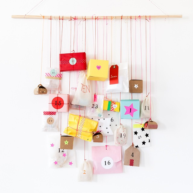 DIY Calendrier de l'avent suspendu - Advent calendar