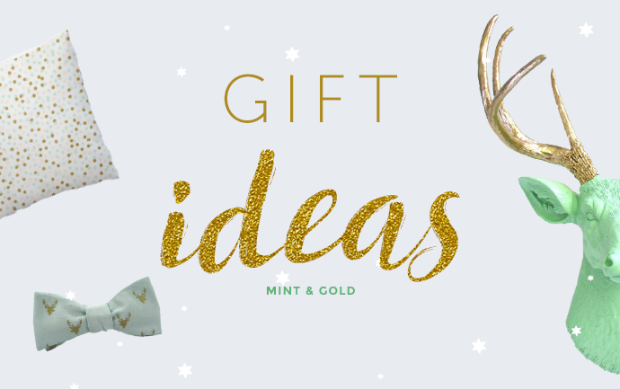 Gift ideas green gold gifts