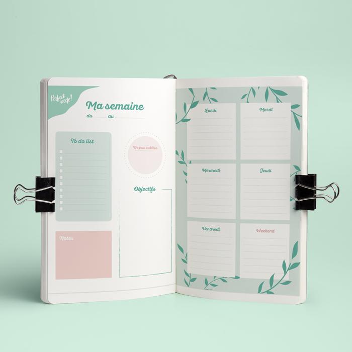 Bullet journal weekly planner printable - semainier à télécharger - gratuit