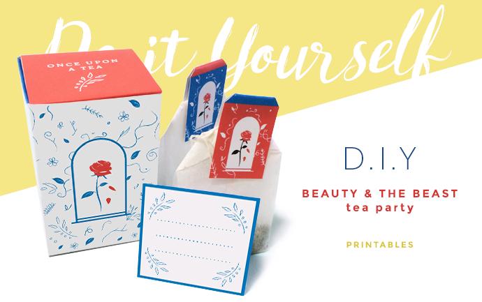 DIY Tea party - tea box - Beauty and the Beast