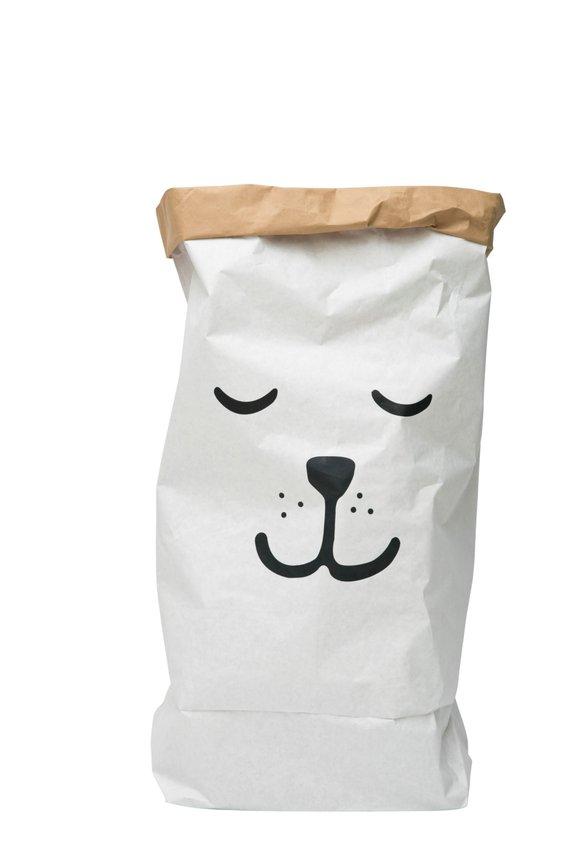 Paperbag pour bureau - visage sourire