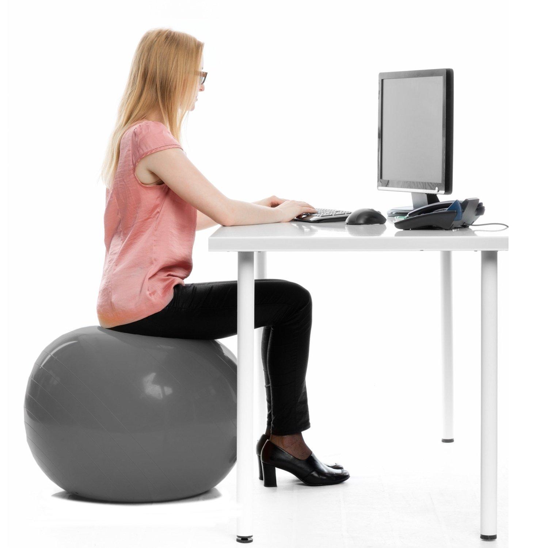Swiss ball pour bureau - ballon gymnastique siège