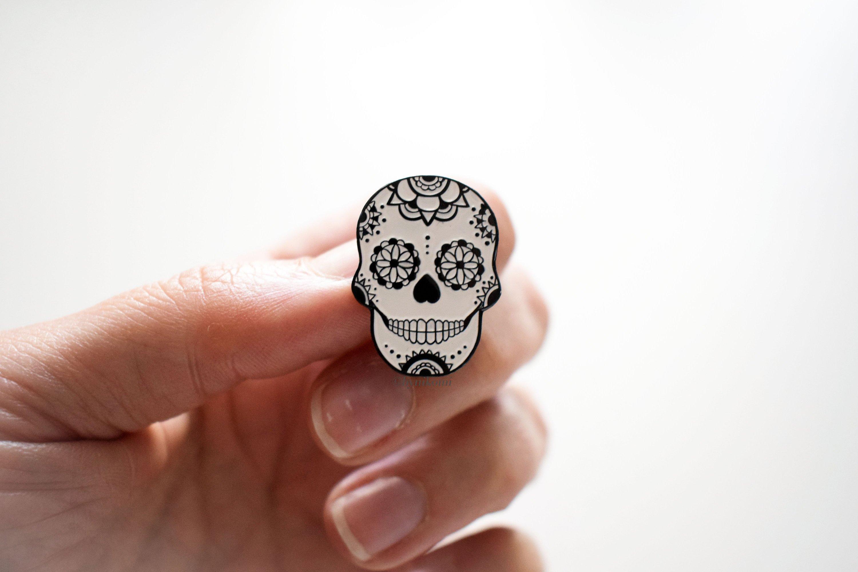 Halloween calavera pin's - Sugar skull pin enamel