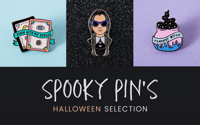 selection de pin's spéciale Halloween - spooky pin's