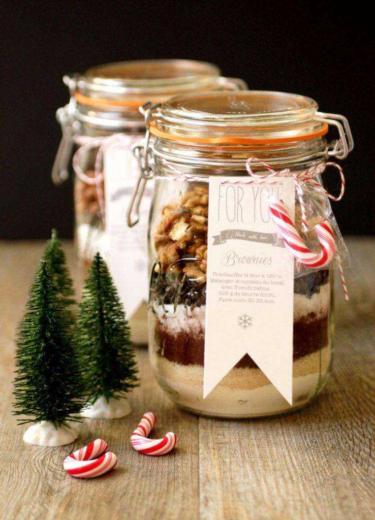 DIY gourmand préparation de brownie - recette gateau - cadeau de noel